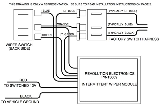 amazon com: revolution electronics intermittent wiper module for classic gm  vehicles: automotive
