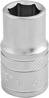 Draper 16634 1/2-Inch Square Drive Micro Satin Chrome Imperial Socket, 1-Inch Size