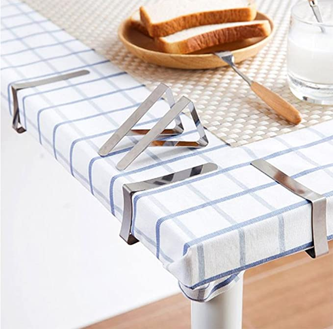 6x Tablecloth Clips Table Cover Anti Slip Desktop Clamps Tableware Skirt Holder