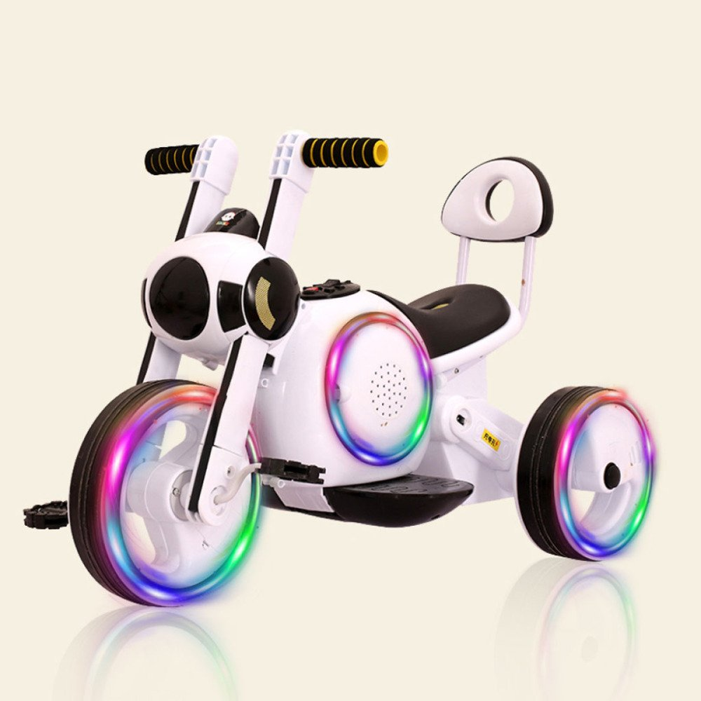 QXMEI Kinder Elektrische Dreirad 1-3-5-6 Wiederaufladbare Jungen Und Mädchen Können Menschen Spielzeug Elektroauto Sitzen,Orange3 Weiß2