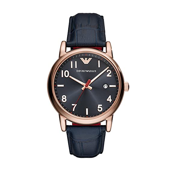 85982fadba72 Buy Emporio Armani Analog Blue Dial Men s Watch - AR11135 Online at Low  Prices in India - Amazon.in