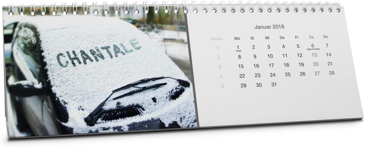 Calendario de mesa con nombre, calendario de mesa personalizado con nombre, elegir el mes de inicio: Amazon.es: Oficina y papelería