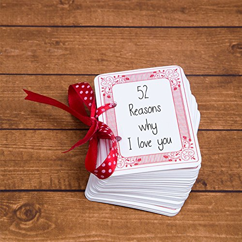 Day Playing Cards (52 Reasons Why I Love You - Original Poker Playing Cards Size - Romantic - Valentine's Day Gift)