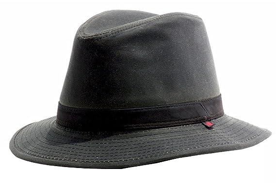 6fd175b5899f9 Woolrich Men s Cotton Oil Cloth Ear Flap Safari Hat - Brown ...