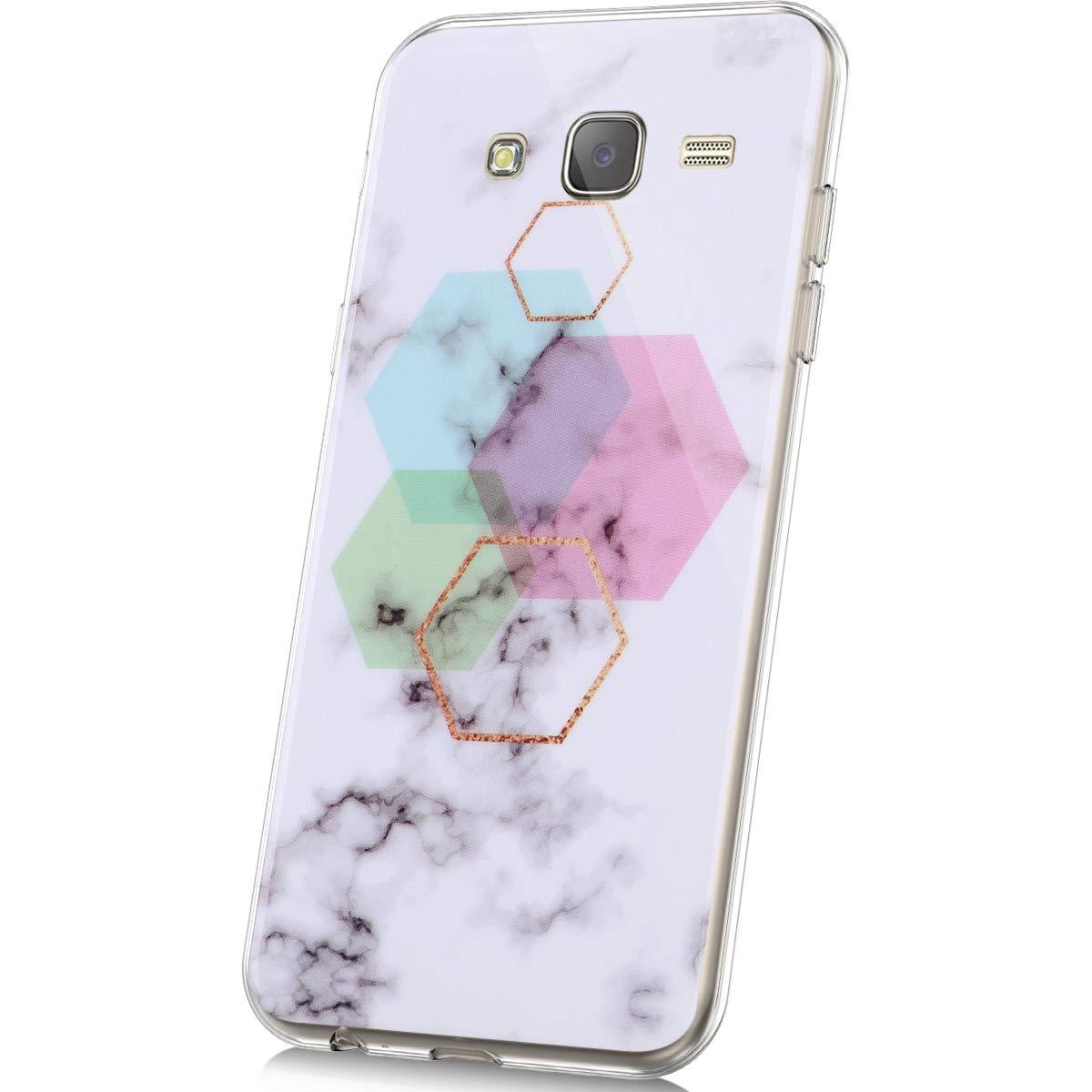 MoreChioce compatible avec Coque Samsung Galaxy J5 2015 Etui Silicone Marbre,/Él/égant Anti-Rayures Housse Protecteur Souple Strass TPU Transparent Silicone Bumper Rigid Cover Skin,Marbre #13