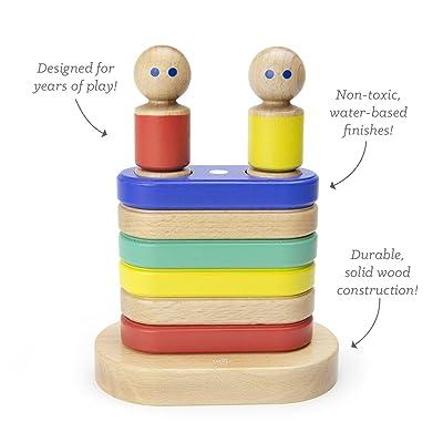 11 Piece Tegu Magnetic Floating Stacker Building Block Set, Big Top: Toys & Games