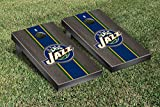 Utah Jazz NBA Basketball Regulation Cornhole Game Set Onyx Stained Stripe Version