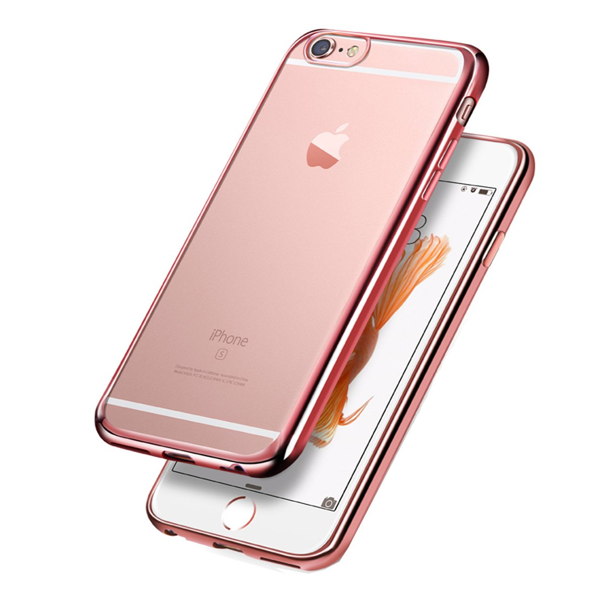 iphone 6 coque or rose