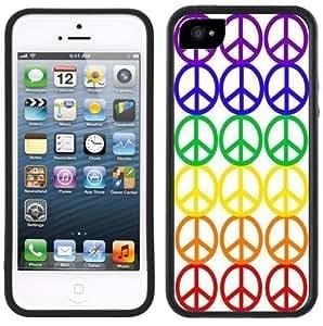 Peace Signs Symbols Handmade iPhone 5 Black Bumper Plastic Case