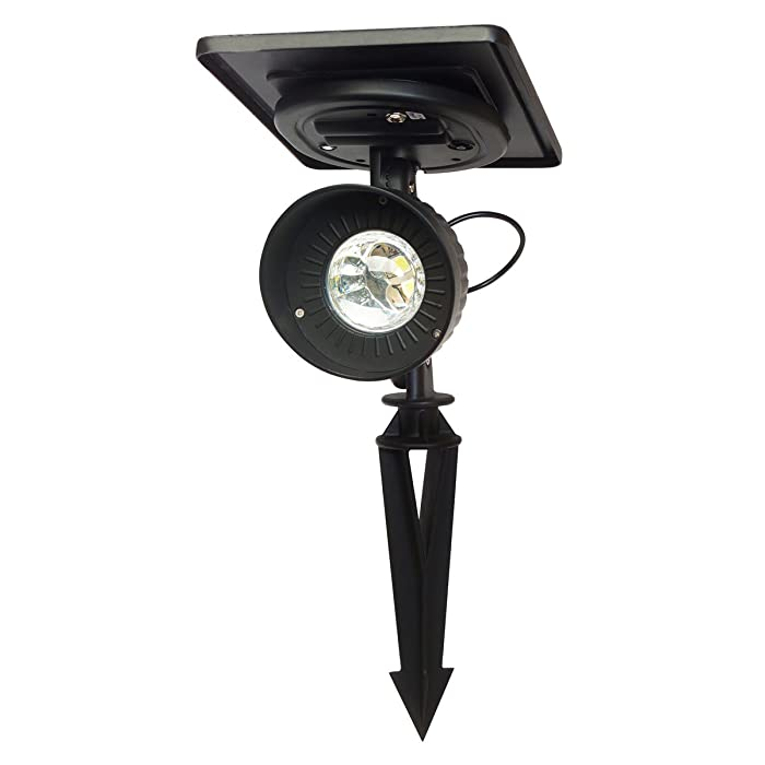 Gama Sonic GS-103 Progressive Garden Landscape Spotlight Outdoor Solar Powered Light on Stake, Bright White LED