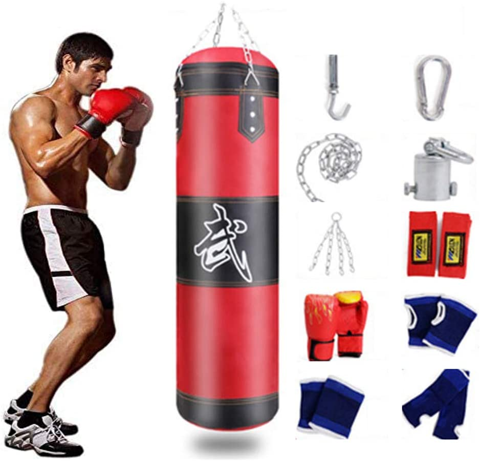 Adults Kids Boxing Gloves Muay Thai Gym Punching Bag Half Finger Train Mitts HD