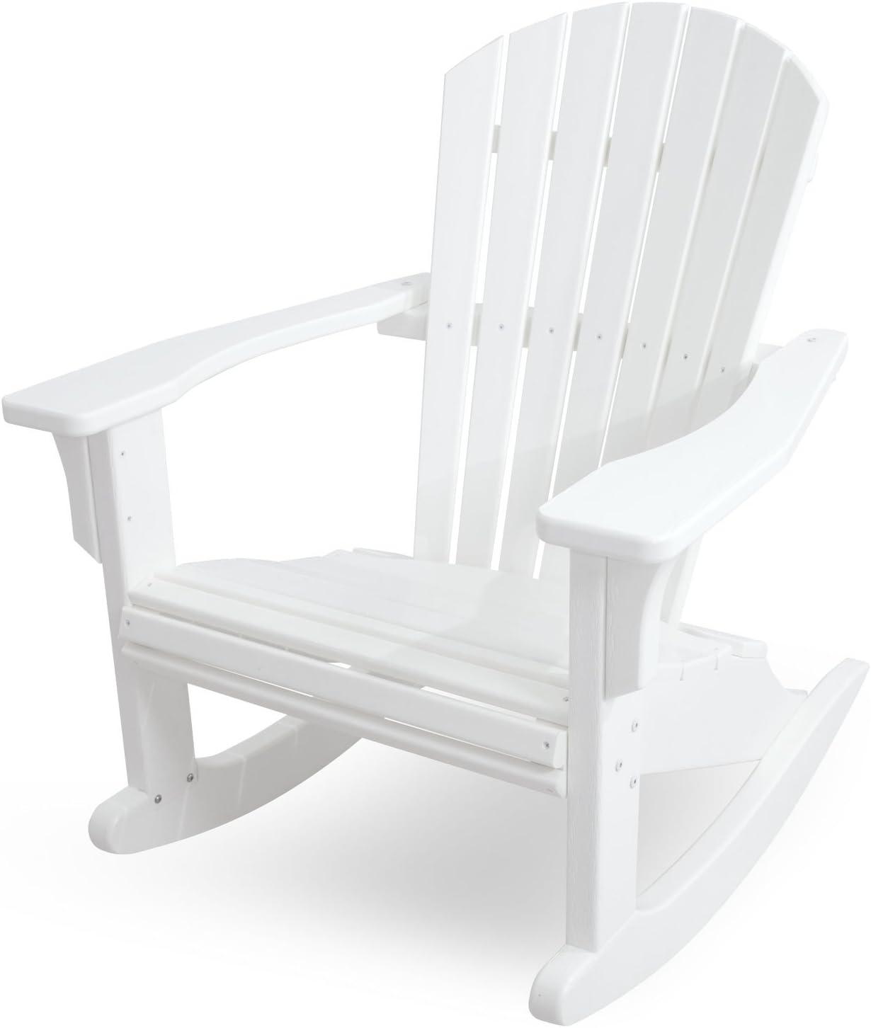 POLYWOOD SHR22WH Seashell Rocker, White