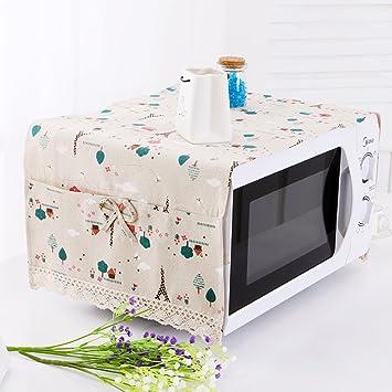 Cubierta del horno microondas cubierta a prueba de polvo microondas tapa cubre toallas cubierta del horno cúpula de tela-H 100x35cm(39x14inch): Amazon.es: ...