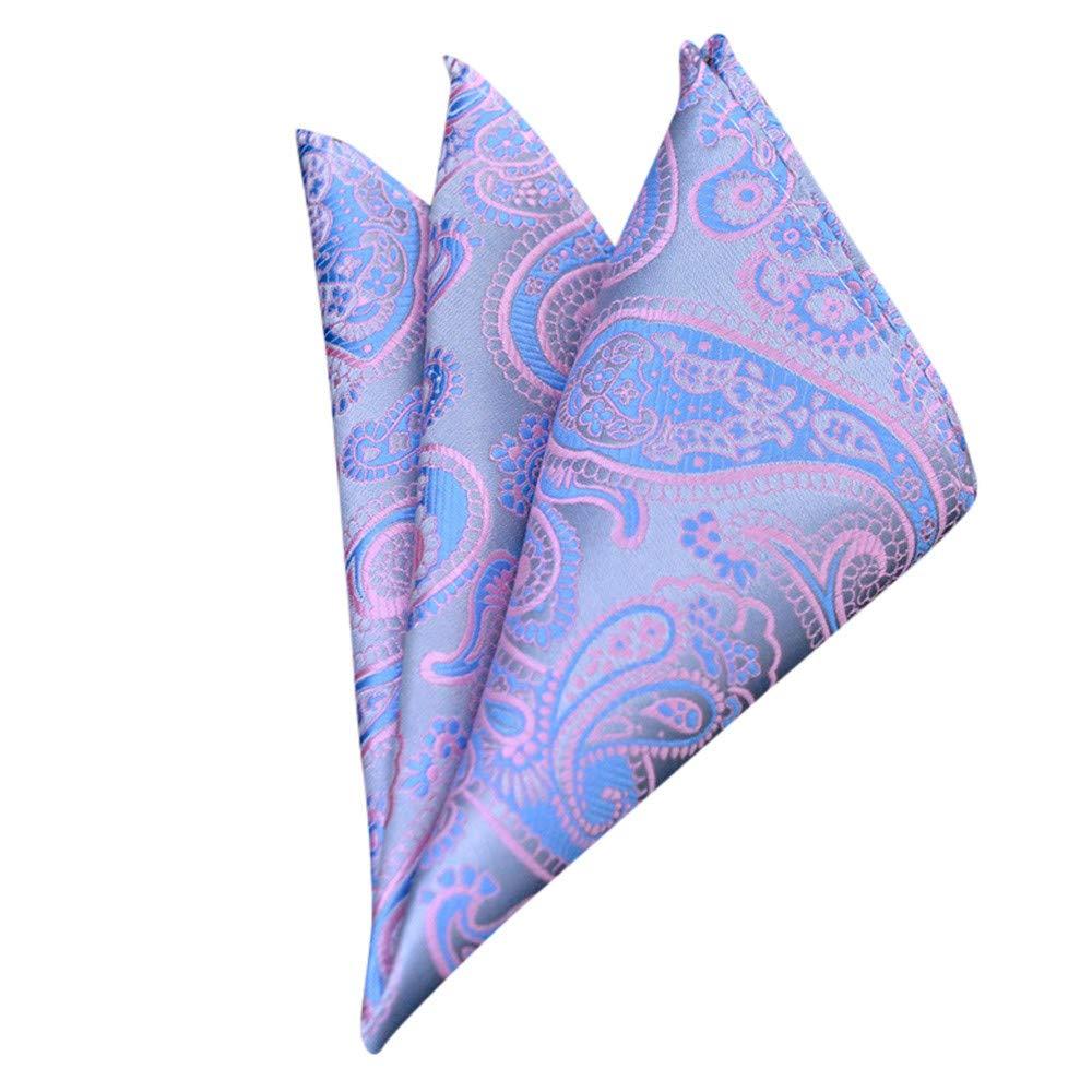 Fashion Men Floral Print Retro Suit Pocket Square Scarf Soft Chest Towel