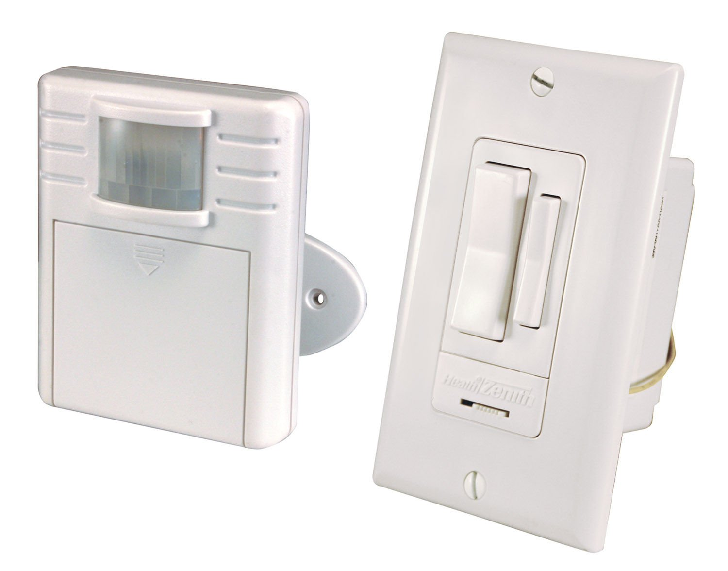 Heath Zenith Wc 6052 Wh Transmitter And Receiver Indoor Motion Wiring Diagram Switch Set White Wall Light Switches