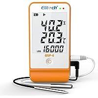 Elitech GSP-6 Enregistreur de données de température et d'humidité, 16000 points pour la chaîne de froid (1PC)