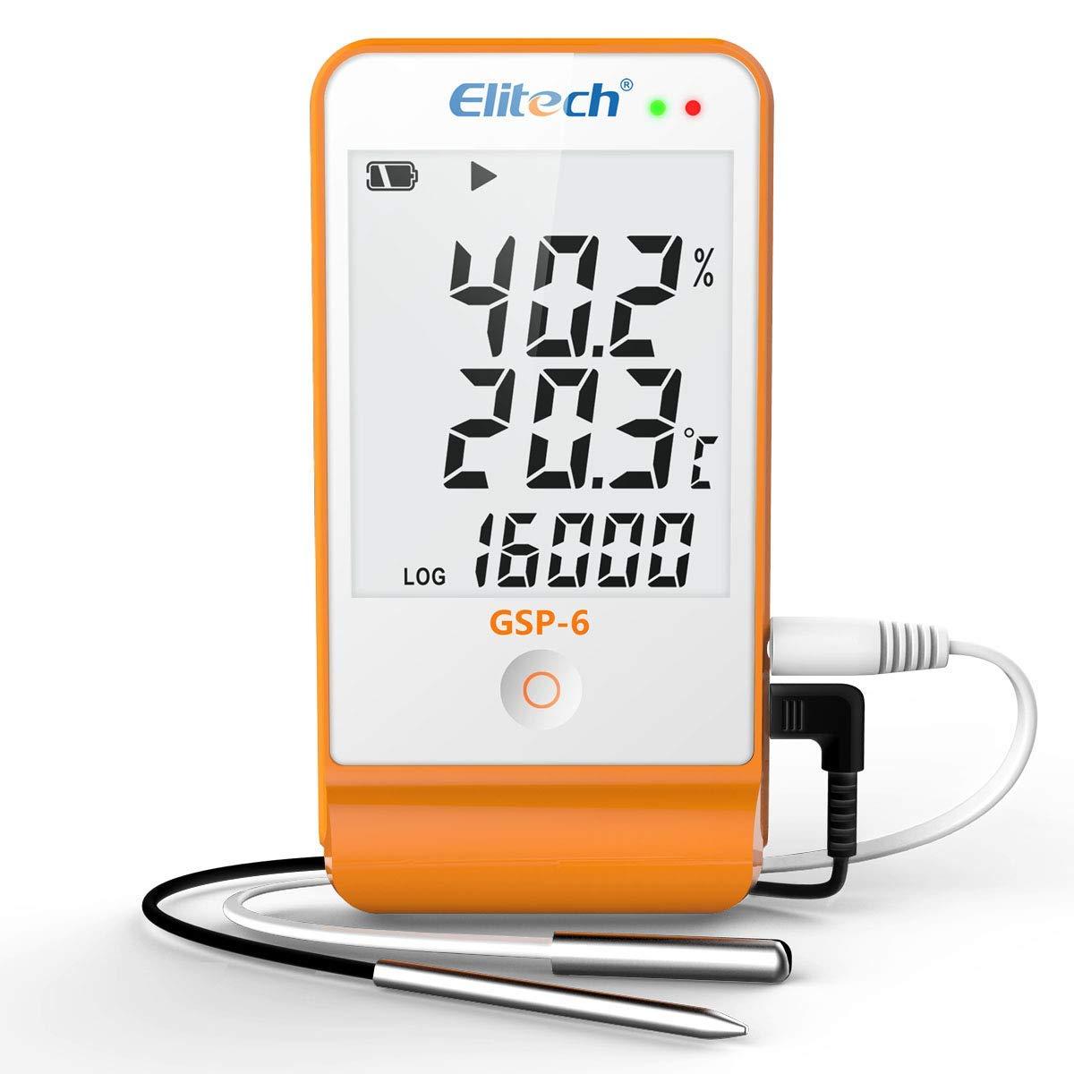 Registrador de Datos de Temperatura y Humedad Elitech GSP-6