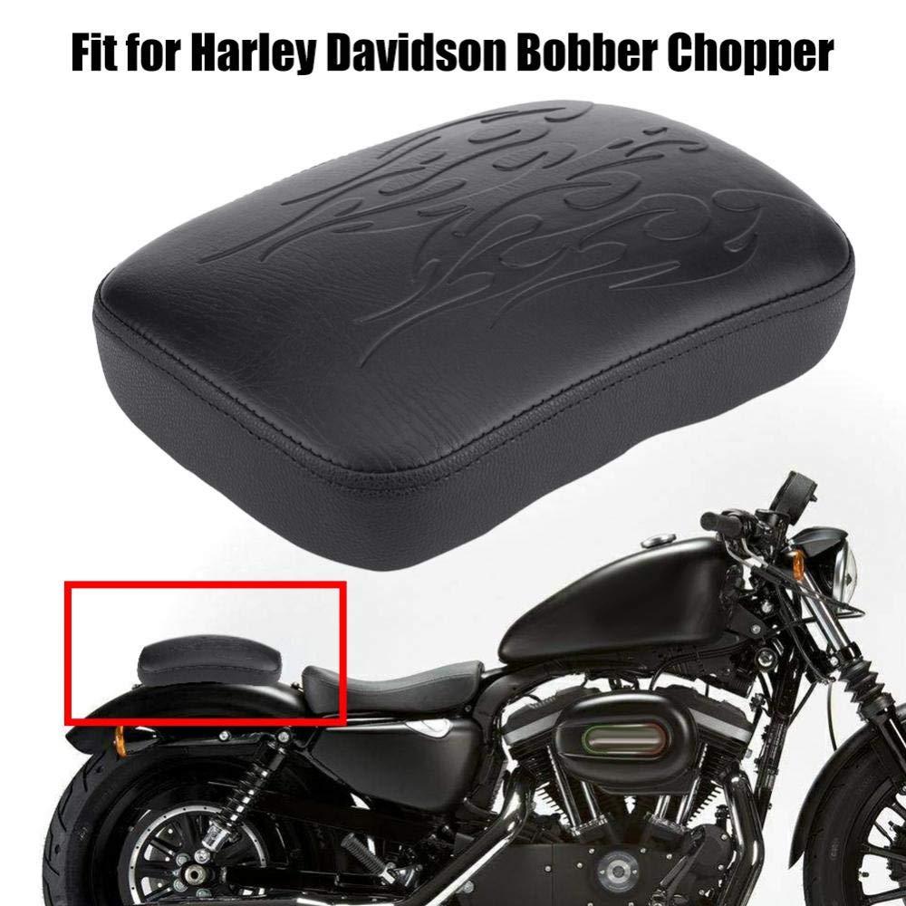 ventosa posteriore Sedile per ventosa posteriore per Bobber Chopper -Nero Sedile a ventosa per motocicli #1