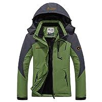 Mochoose Femme Outdoor Mountain Imperméable Coupe-Vent Fleece de Ski et Snowboard à Capuche Veste Vêtement de Sport de Pluie Camping la Pêche Veste de Chasse et Travail Jacket