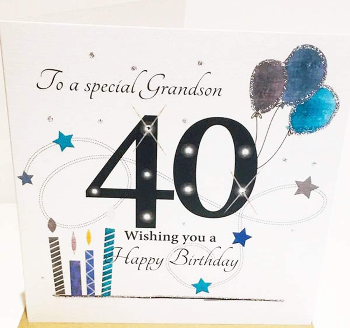 GRANDSON LARGE BIRTHDAY CARD GREAT QUALITY 2 DESIGNS TO CHOOSE FROM