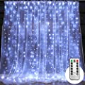 Window Curtain String Lights,300 LED Icicle Fairy Twinkle Starry Lights