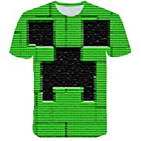 Minecraft Glowing Gamer Sprites Characters Youth Short Sleeve T-Shirt for Boys Tee