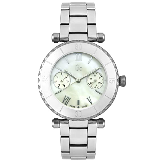 Reloj Guess Collection Gc Diver Chic I20026l1s Mujer Nácar: Amazon.es: Relojes