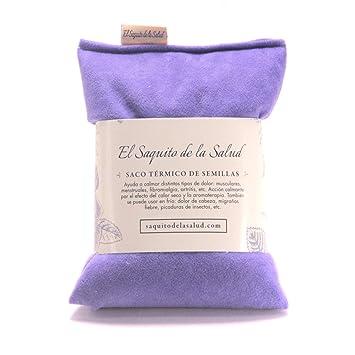 Saquito Térmico de Semillas Violeta Aterciopelado (Sin Aroma, S ...