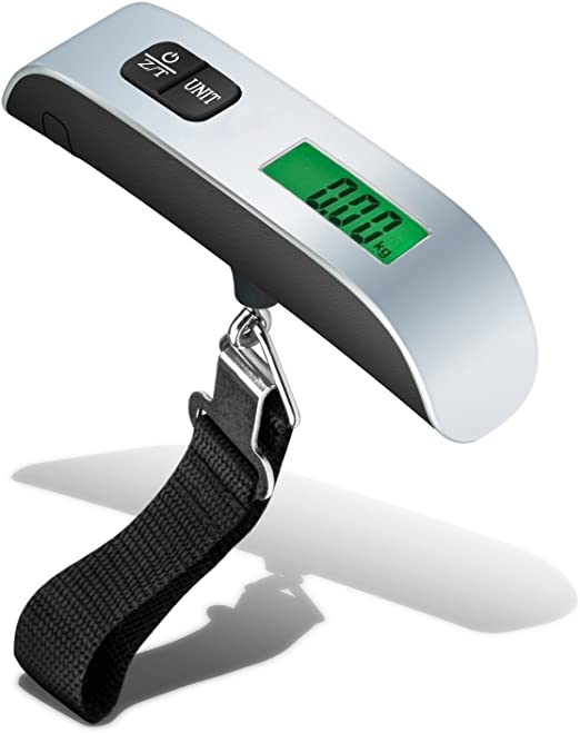 New 50kg//10g Portable LCD Digital Hanging Luggage Scale Travel Electronic Weight