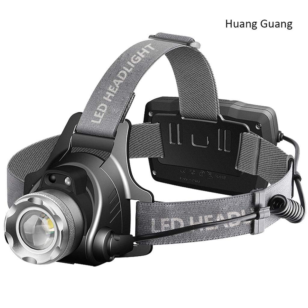 QAZWS LED Headlamp Flashlight with Carrying Case,Head Lamp,Waterproof Running Headlamp, Bright Headlight for Adults,Kids,Camping,Night Jogging,Reading,Dog Walking,Runner (Color : A)
