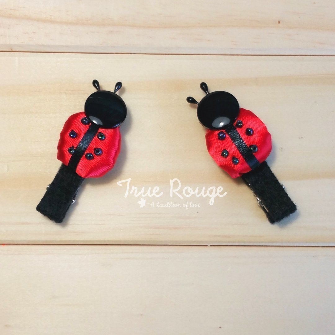 Handmade Fabric Ladybug Clip Set of 2 by True Rouge