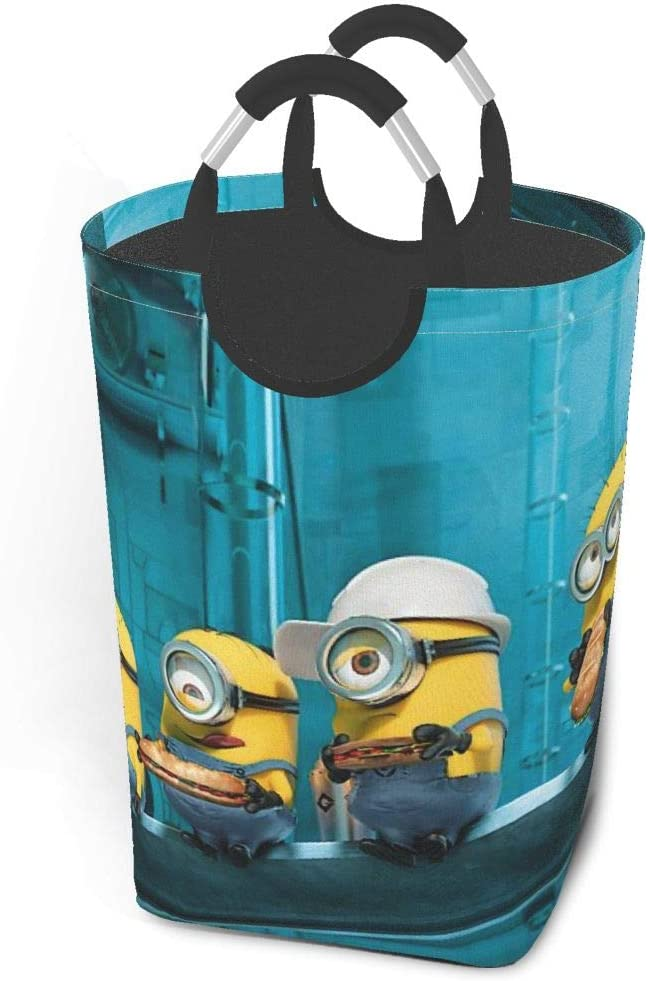 LVHERS Minions Laundry Baskets Waterproof Dirty Clothes Pack,with Handles Foldable Oversized Laundry Hamper,for Family,Dormitory, Hotel,Toy Room Washing Storage (22.7 in)