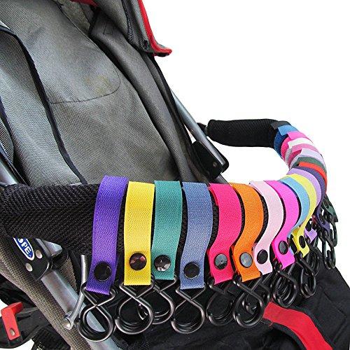 - ideal f/ür Kinderwagen Kinderwagen Haken Joggen Wandern oder Einkaufen Mama Baby Wickeltasche Kleidung Rollstuhl 9 Packungen Walkers Kinderwagen Haken Rollstuhl Lebensmittel