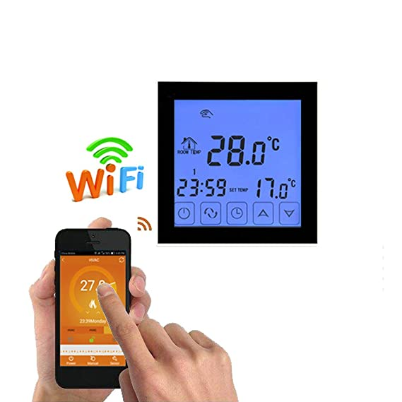 ... del agua de Wifi del wifi Termóstato programable de la temperatura del sitio de la pantalla LCD Termostato de Wifi: Amazon.es: Bricolaje y herramientas