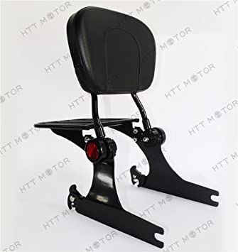 Replacement of sissybar backrest luggage rack Detachable For Harley Dyna 06-up Black XKH