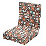 Zicac Booster Cushion Dismountable Adjustable Baby Toddler Infant Harness Dining Chair On the Go Seat Bag Travel Storage Foldable Cotton Chair (Coffee)