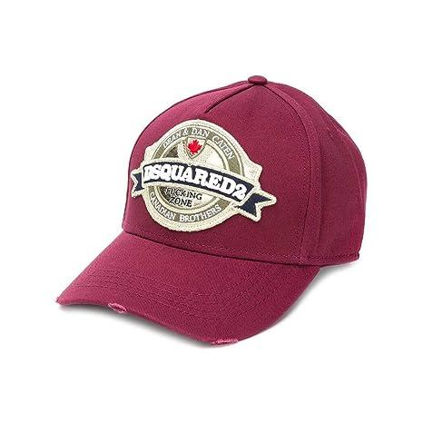 088365a299330 Dsquared2 Accessoires Homme Casquette Baseball Bordeaux Automne-Hiver 2019   Amazon.fr  Vêtements et accessoires