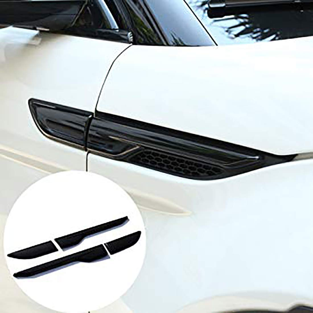Car Side Air Conditioning Vents Outlet Cover Trim For Evoque Exterior Accessories(Gloss black) Carwest