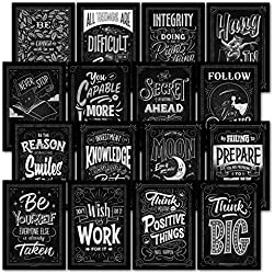 16 Motivational Classroom Wall Posters - Inspirational Quotes for Students - Teacher Classroom Decorations (13 x 19, PAPER)