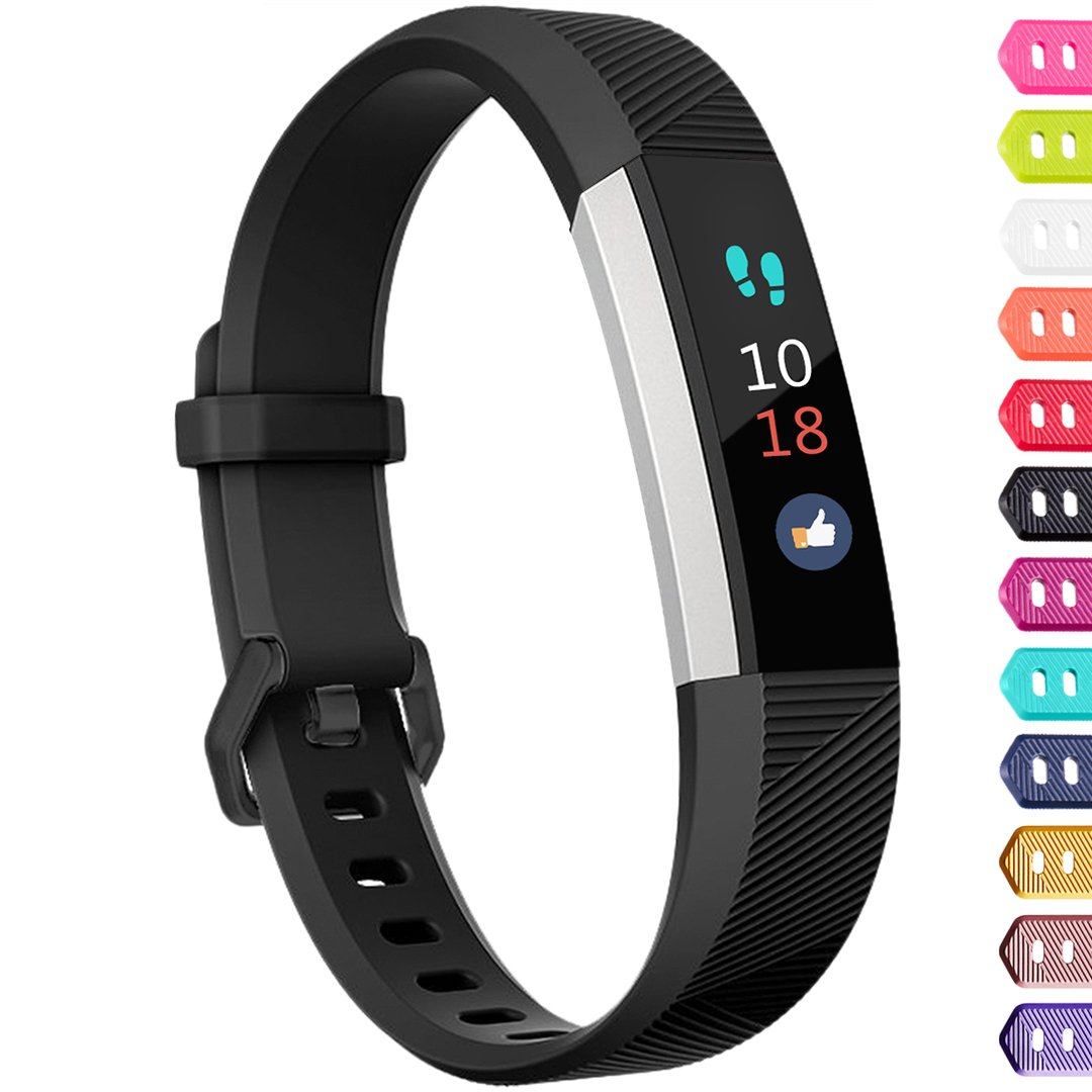 Ouwegaga Compatible for Fitbit Alta Bands and Fitbit Ace Bands Black for Kids Small