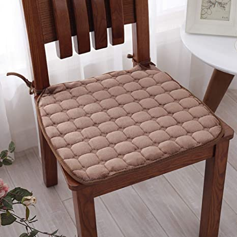 amazon com lovehouse kitchen chair pads with ties set of 6 flannel rh amazon com Thin Kitchen Chair Cushion Kitchen Chair Cushions for Chairs