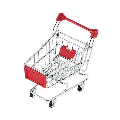 Rocita Mini carrito de compras juguete rojo 1 paquete