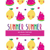 Summer: Summer Journal For Kids With Writing Prompts, Interactive Diary Scrapbook, Summer Bucket List Journal, Ages 8-12…