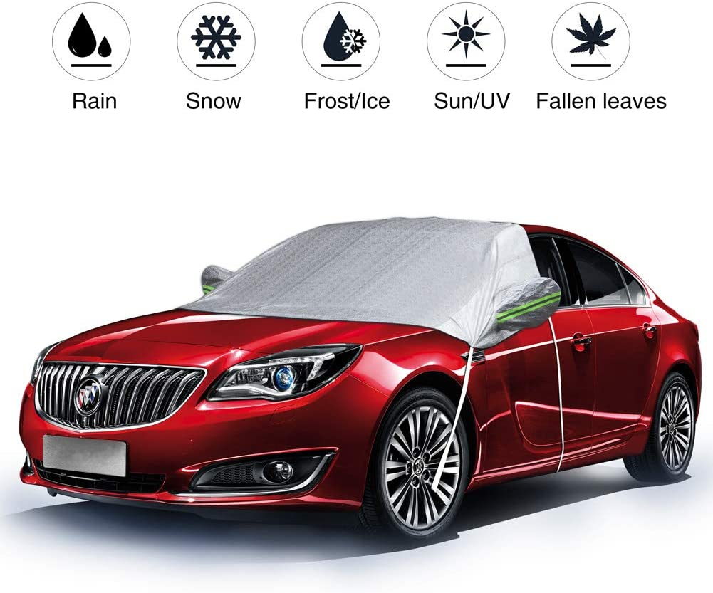 78x 47inches Car Windshield Snow Cover Auto UV Protector Cover Shields Windshield Snow for All Weather Car Front Window Cover