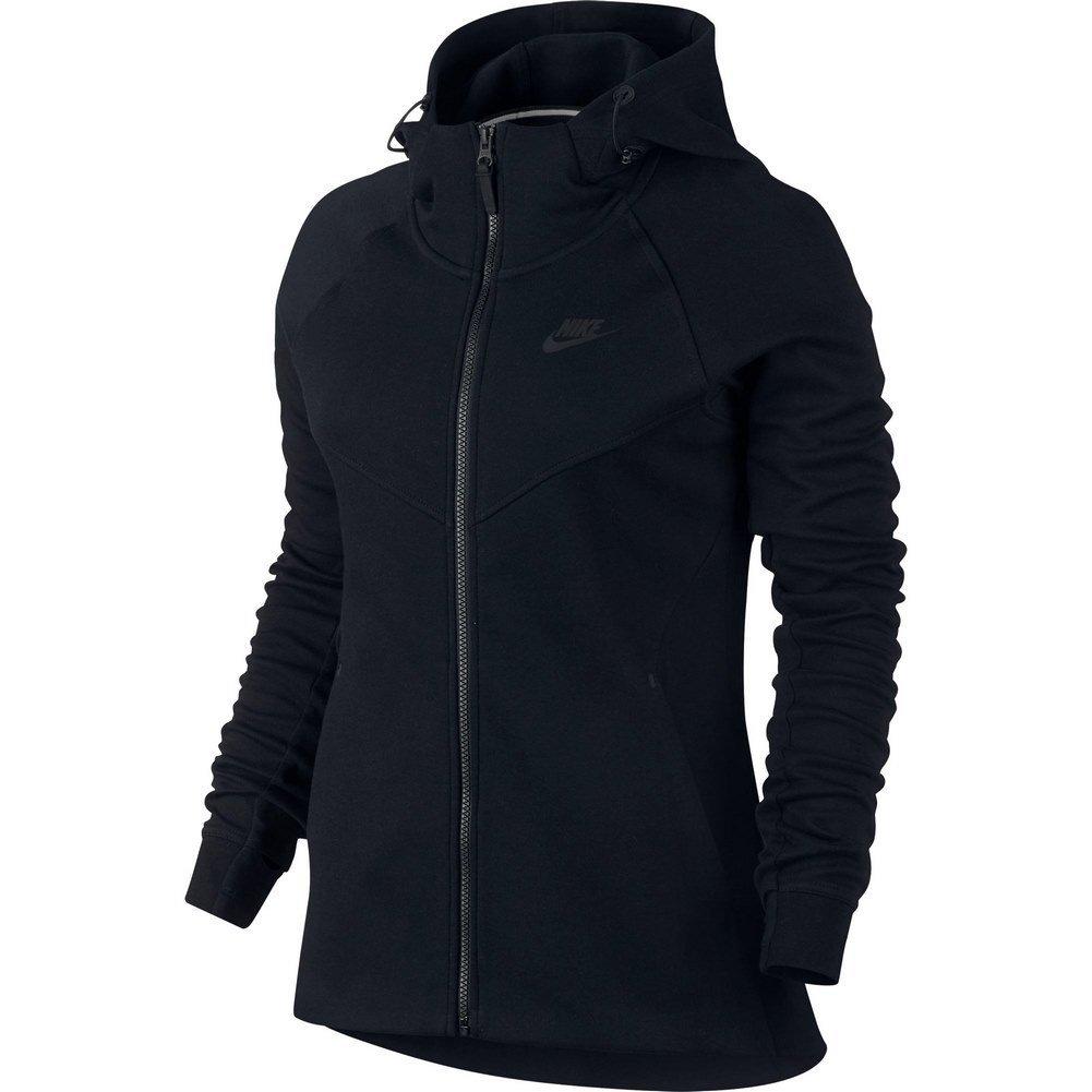 Nike Womens Tech Fleece Full Zip Hoodie Black/Black 842845-010 Size Medium