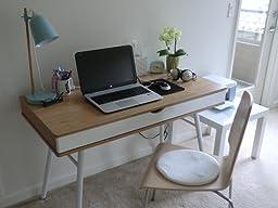 Amazon.com: Techni Mobili Modern Computer Desk with Storage, Pine