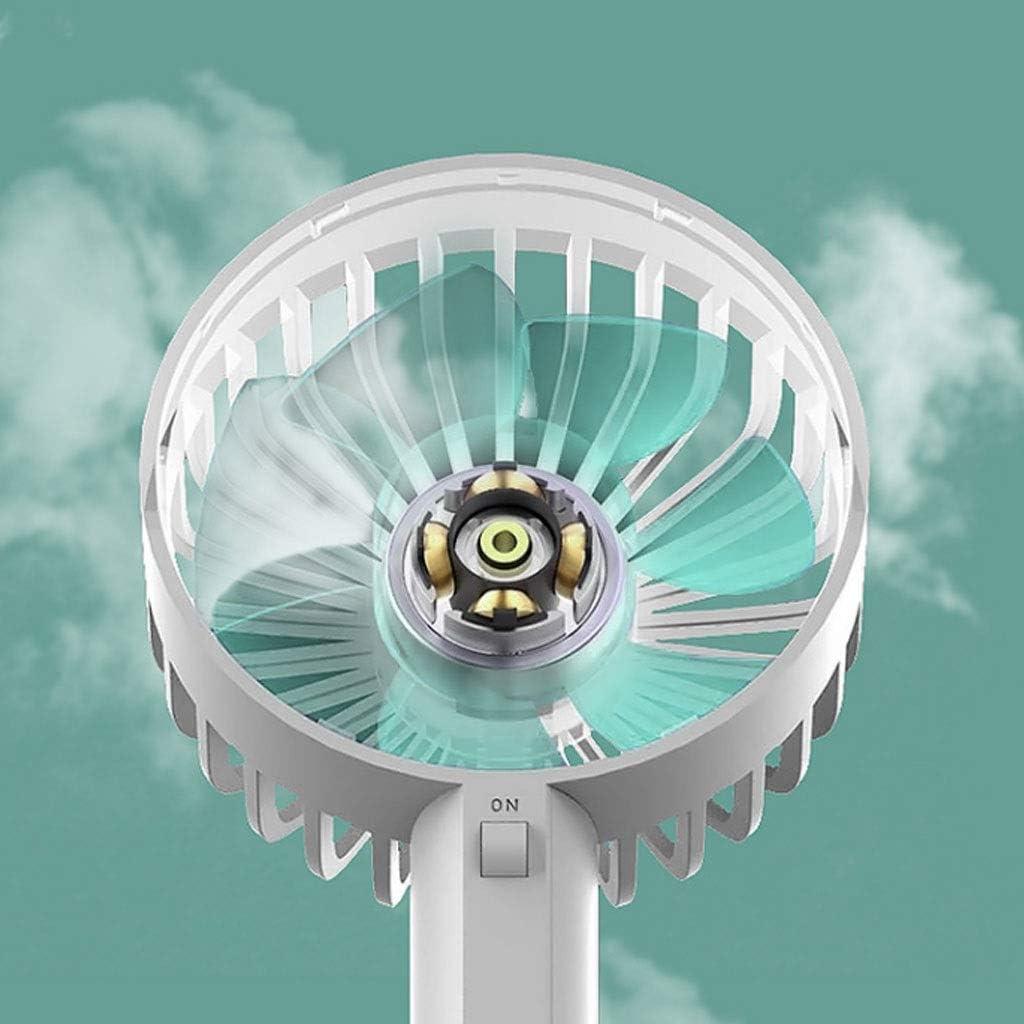 XZ15 Mini Ventilatore da Viaggio Portatile da Viaggio Studente Piccolo Ventilatore Ufficio Portatile Piccolo Ventilatore Portatile Ricaricabile (Color : White) White