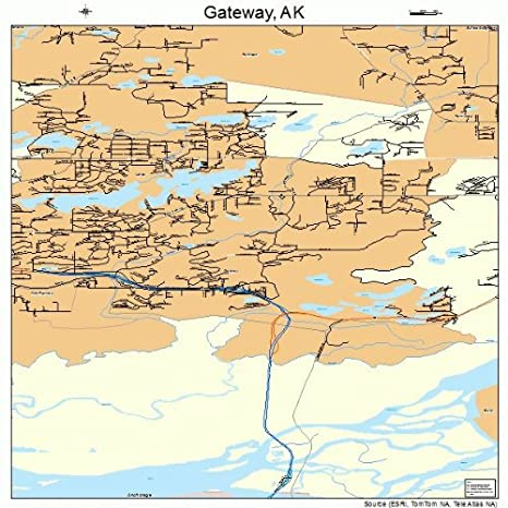 Amazon.com: Large Street & Road Map of Gateway, Alaska AK - Printed ...