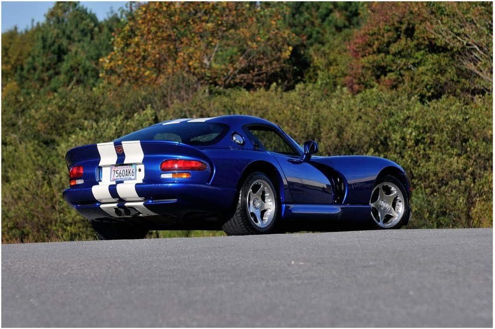 """Dodge Viper GT3-R  Racecar Car Photo Wall Art Canvas Print 12/""""x36/"""""""