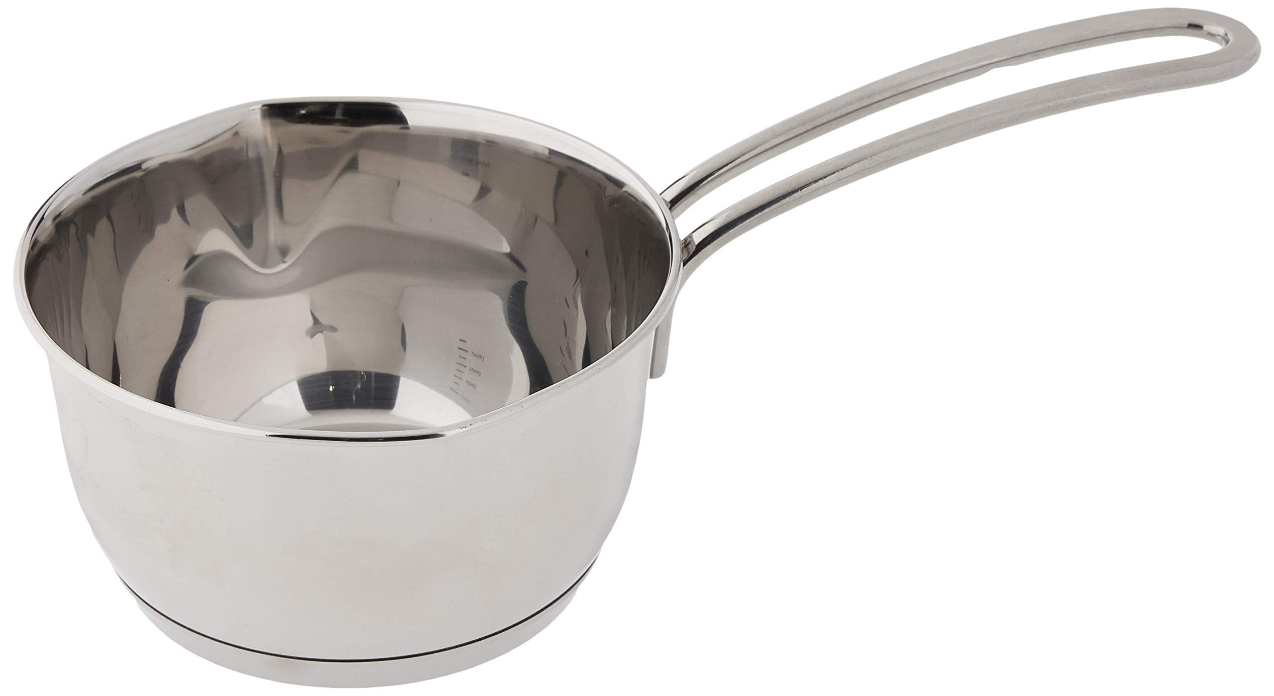 Kuchenprofi Stainless Steel Saucepan with Clad Bottom, 16-Ounce by Kuchenprofi